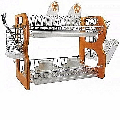 2-Steps Bigger Size Dish Drainer+ Spoon Storage