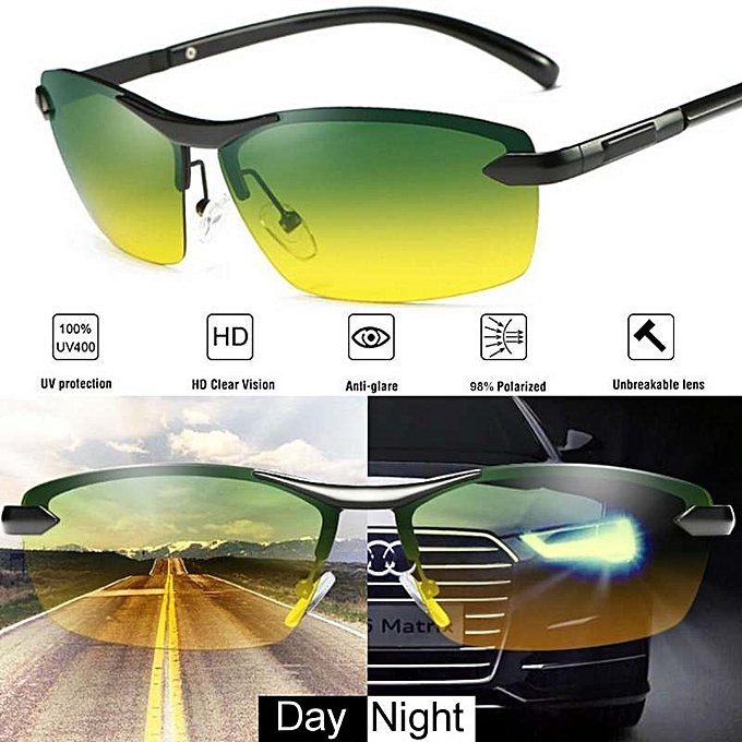 05e51e19adc Day Night Vision Men s Polarized Sunglasses Driving Pilot Mirror Sun Glasses