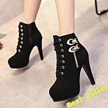 f1659d3f87c0 Zipper Boots Women  039 s Shoes High Heel Stiletto Martin Boots