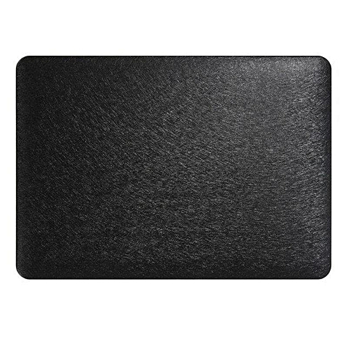 XSKEMP Shockproof Hard Cover For Macbook Air 13 PU Leather Silk Print Laptop Shell + Keyboard Cover Black