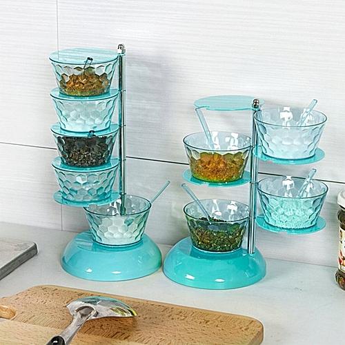 Creative Crystal Seasoning Box Fashion Multi-Layer 360 Degrees Can Be Rotated