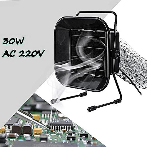 30W 220V Soldering Iron Absorber Remover Fume Electrostatic Fan + 3M Pipe