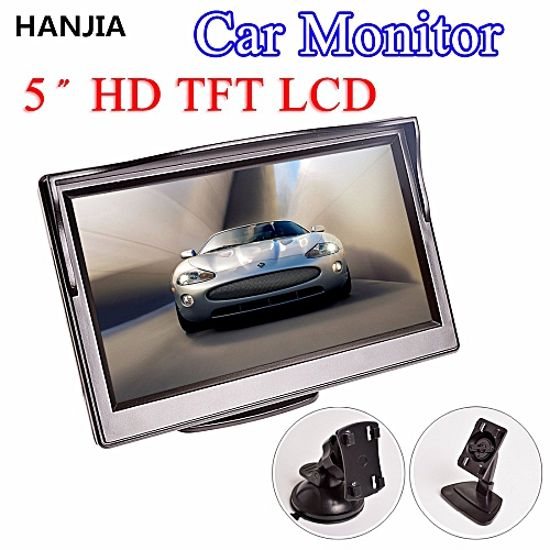 5 Inch Car Monitor TFT LCD 16:9 800*480 2 Way Video Input For Reverse Rear View Camera DVD VCD
