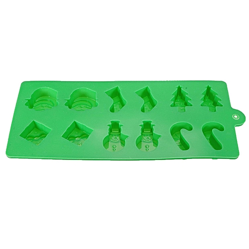 Xmas Christmas Chocolate Cookies Candy Cane Mold Baking Ice Soap Mould Tool