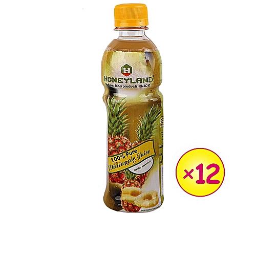 1 Dozen Of Honey Land Pineapple Juice- 300ml Each