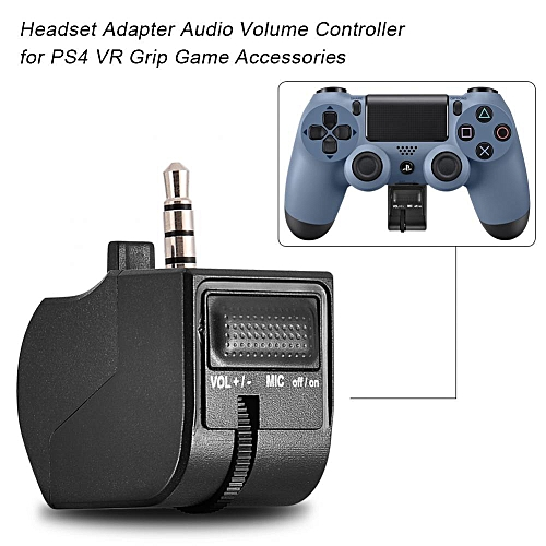 Audio Adapter For PS4 Headset Adapter Audio Volume Controller For PS4 VR Grip Game Accessories