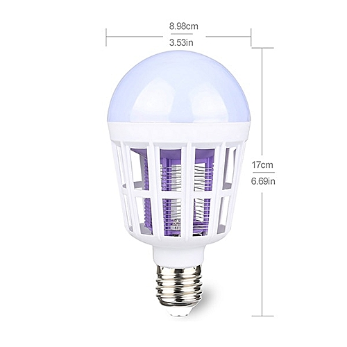 2 In 1 Mosquito Killer E27 / E26 LED Bulb 220V Lamp Insect Anti-Mosquito Repeller Led Night Light Lamps Bug Wasp Pest Fly Kill LALANO