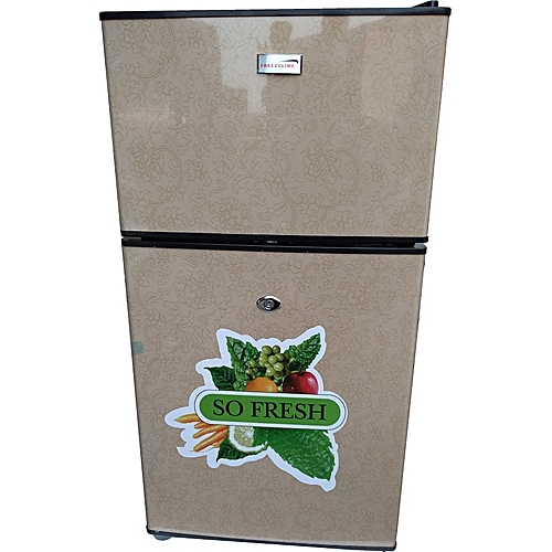 Double Door Table Size Refrigerator - FC-138 - Gold