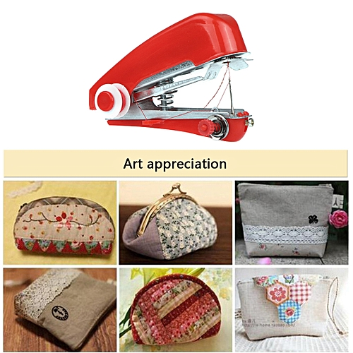 Mini Sewing Machine Patchwork Overlock DIY Portable Pockets Manual Stitch Accessories Cloth Fabric Handy Needlework Tool