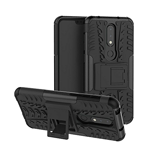 Nokia X6 / 6.1 Plus Case, Heavy Duty Tough Hybrid Dual Layer Kickstand Case Cover For Nokia X6 / 6.1 Plus