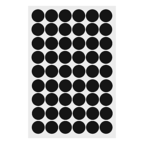 Black Polka Dots Round Wall Stickers Removable Home Decor