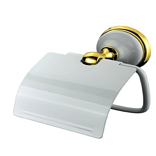 TOILET ROLL HOLDER- NISMAD High Quality White And Gold Tissue Holder