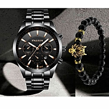 2 In 1 Luxury Watch  amp  Beads Bracelet Set 4e9bd4f1d6