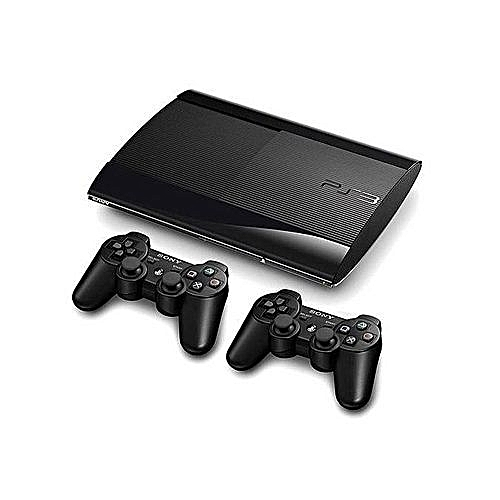 Playstation 3 500GB SUPERSLIM CONSOLE+18 BONUS GAMES {FIFA19+PES19+GTA5 , With Extra Pad Controller