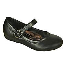 c5cd22bedcb5 Girls Maryjane School Shoe - Black