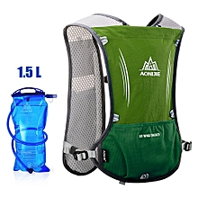 Used, 5L Lightweight Running Bags Backpack Outdoor Sports Trail Racing Marathon Hiking Bag Hydration Vest Pack 1.5L Water Bag(green With Bottle) for sale  Nigeria