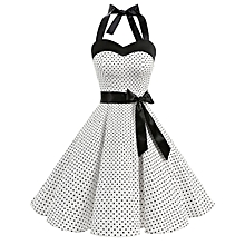 511edc95f82 Summer Dresses Female Wave Point Tube Top Dress Retro Big Skirt 9531