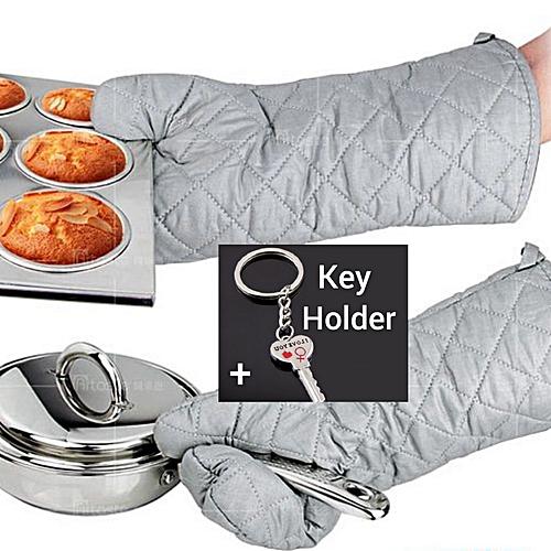 A Pair Of Heat Resistant Oven/ Pot Holder Mitten Glove- Multicolour