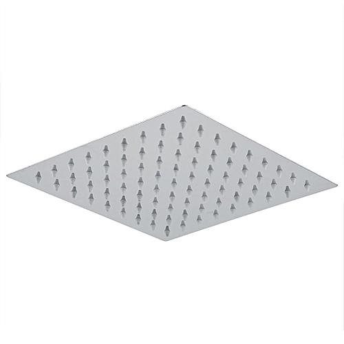 8inch Square Stainless Steel Bathroom Top Sprayer Chrome Plated Rain Rainfall Shower Head
