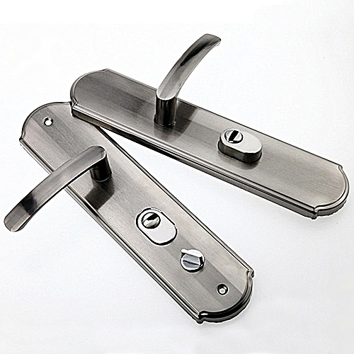 Aluminum Security Door Handle Pair Lock Door Handles Panel