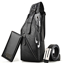786a0045fc38 Sling Backpack Men Leather Shoulder Bag For Men