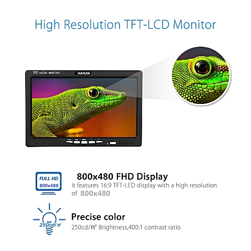 Portable 7Inch IPS Display 800x600 Color Monitor With Hdmi/VGA/AV