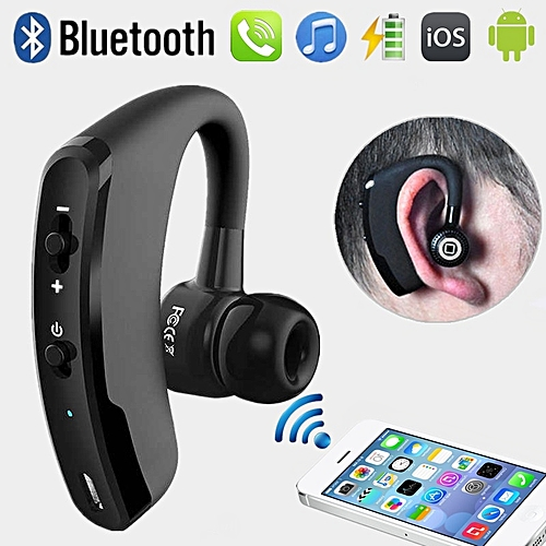 Handsfree Bluetooth Wireless Earphone Voice Control Noise Cancelling Stereo Headphone With Microphone