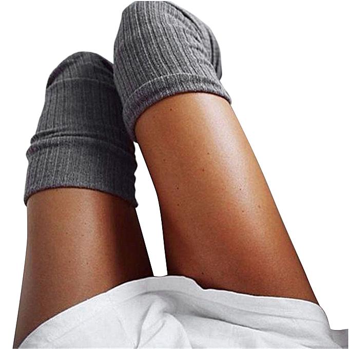 6862df1820e Lightning Girls Ladies Women Thigh High Over The Knee Socks Long Cotton  Stockings Warm-Dark