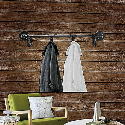 """28 """"4 Hooked Wall-Mounted Industrial Steam Punk Iron Pipe Hanger Towel Rack"""