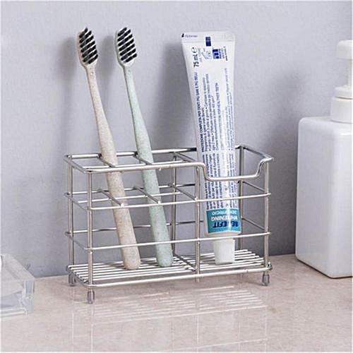 Honana Stainless Steel Toothbrush Holder Toothpaste Razor Stand Bathroom Organizer Tooth Brush Mug Storage Bathroom Accessories