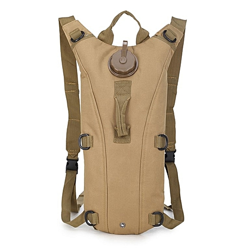 3L Water Bag Pouch Knapsack Tactical Camp Hydration Backpack Camelback Khaki