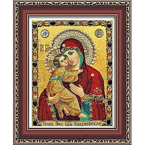 Cross Stitch New Living Room 5D Diamond Painting Virgin Of Russian Wind Entrance Crystal Round Diamond Foreign Trade Explosion