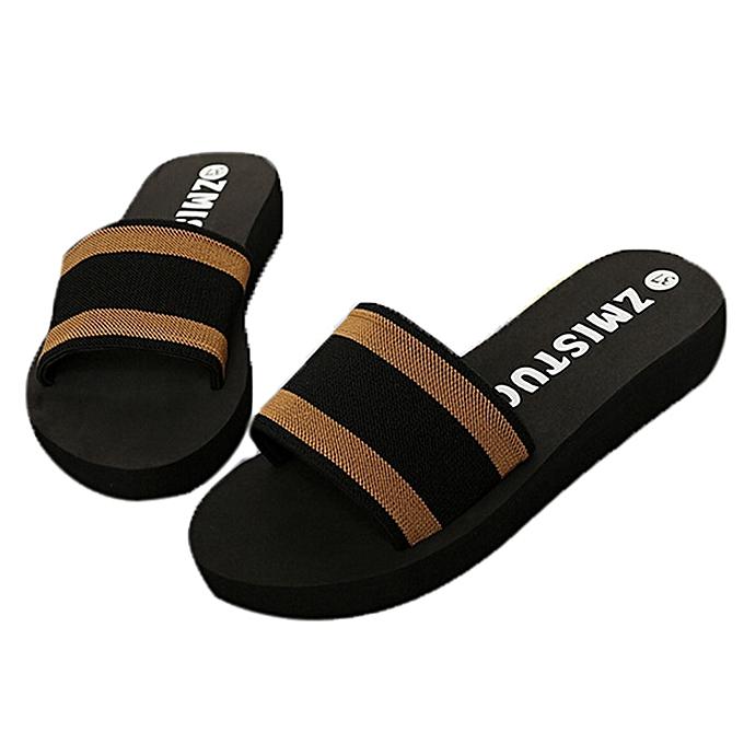 5560ca6d0 ... Blicool Shop Shoes Summer Women Shoes Platform Bath Slippers Wedge  Beach Flip Flops Slippers Shoes- ...