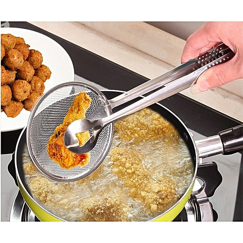 Rvs Promotionele Keuken Accessoires Voedsel Tong Screen Pack Lepel Fry Praktische Multifunctionele Vergiet 1 ST