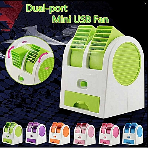 Mini USB Portable Fan Air Condition With Double Air Outlets