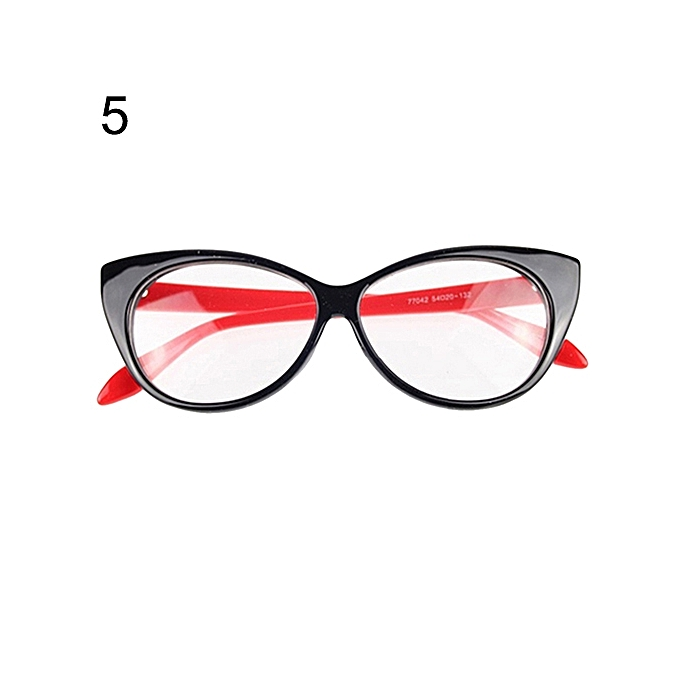 82f1cf9101 Women Classic Sexy Cat-Eye Shape Plastic Plain Eye Glasses Frame Eyewear-Black  +