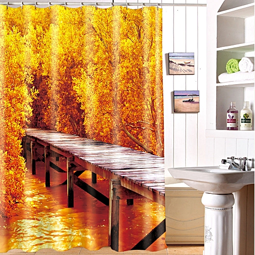 Dtrestocy Printing Waterproof Personality Fabric Bathroom Shower Curtain D