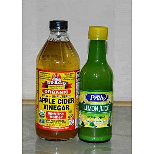 Apple Cider Vinegar Organic 473ml, 16oz + Lemon Juice 250ml
