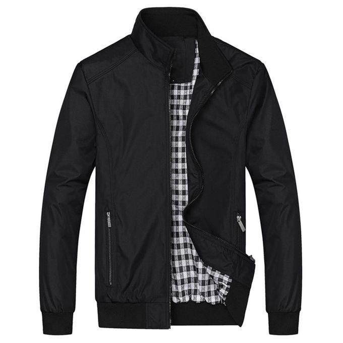 Fashion Men Casual Loose Jacket Black Buy Online
