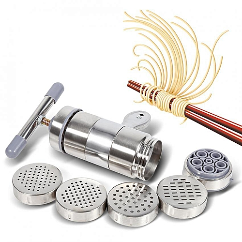 1pc Portable Manual Operated Stainless Steel Pasta Maker Noddle Juicer Pressure Making Machine