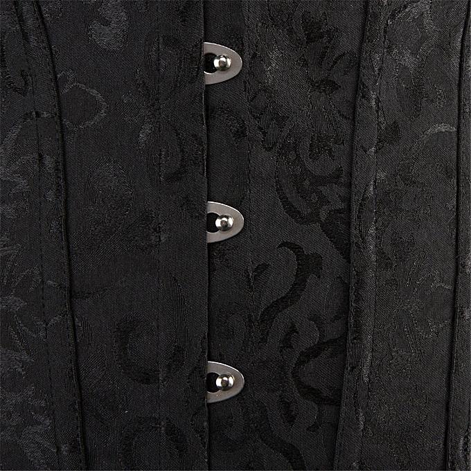 2171d8ca6e1053 ... Women s Bustier Corset Top Sexy Lingerie Sets Black Satin Waist Cincher  ...