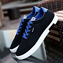 8ab764ffa Fashion Men Canvas Black Shoes Lace Up Sneakers - Black