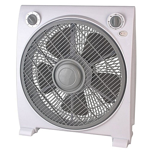 """12""""Box Fan BF-1228-White, With 80 Degree Oscillation"""