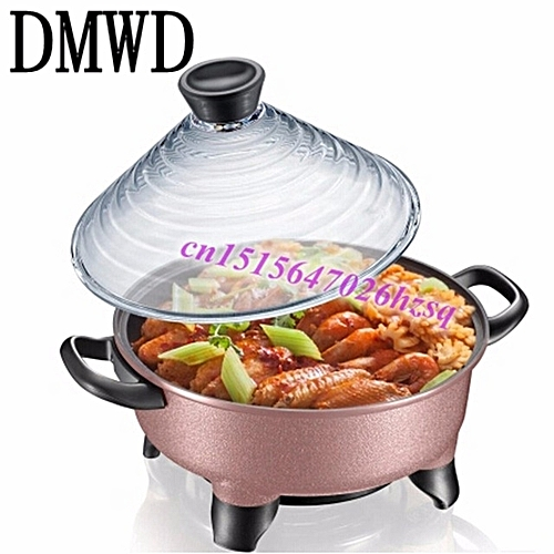 DMWD Electrical Cookers Korean Multifunction Heat Pots Electric Pot Tajine 4L Large Capacity Multi-range Temperature