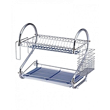 2-Layer Dish Drainer - Silver