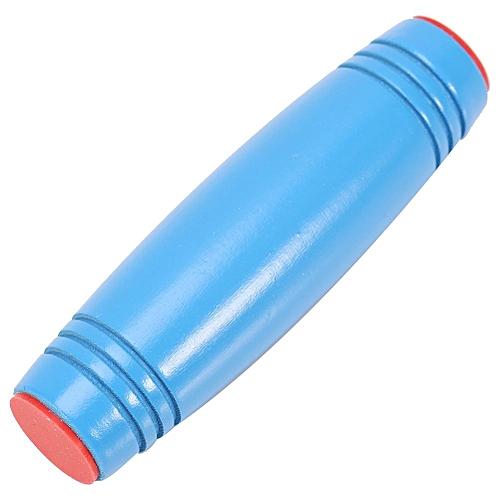 1Pc Wooden Rolling Stick Desk Walker Anti-stress Anxiety Relief Focus Fidget Hand Toy (Blue)
