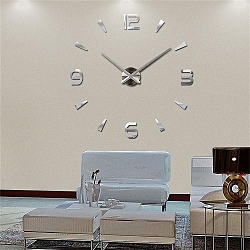 Super 3D DIY Big Wall Clock Acrylic Metal Mirror Super Big Personalized Digital Wall Watches Clocks Free Shipping HKS