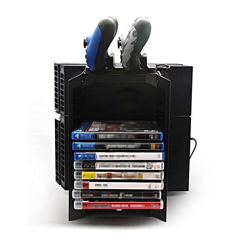 3 In1 Multi-functional Game Disk Console Storage Tower Stand Holder For PS4/Slim