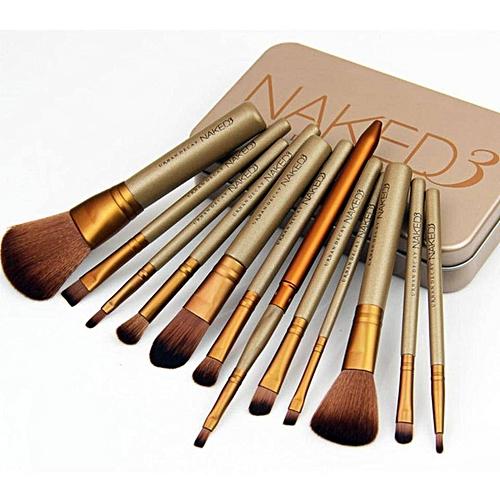 12pcs Makeup Brushes Cosmetic Brushes Set -Naked 3-gold