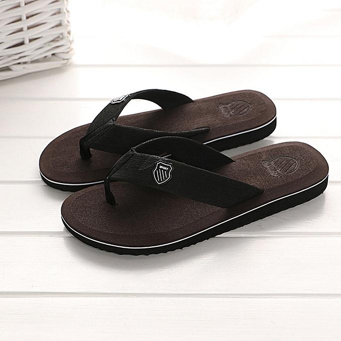 d7e7734a2cf76 Fashion Men s Summer Flip-flops Slippers Beach Sandals Indoor Outdoor  Casual Shoes